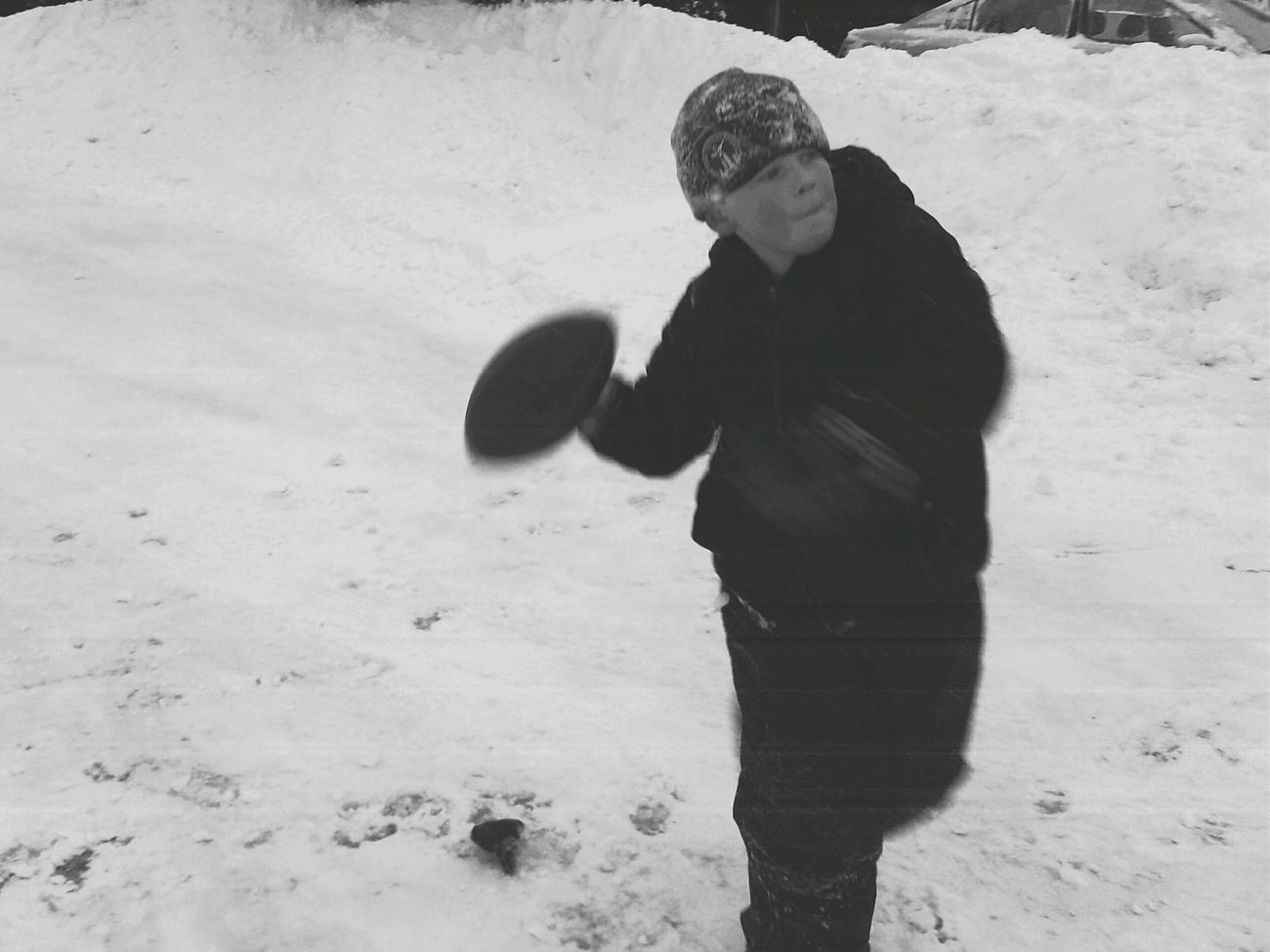 Snow ❄ Blackandwhite Photography Godeep Football Winter Wonderland Enjoying Life