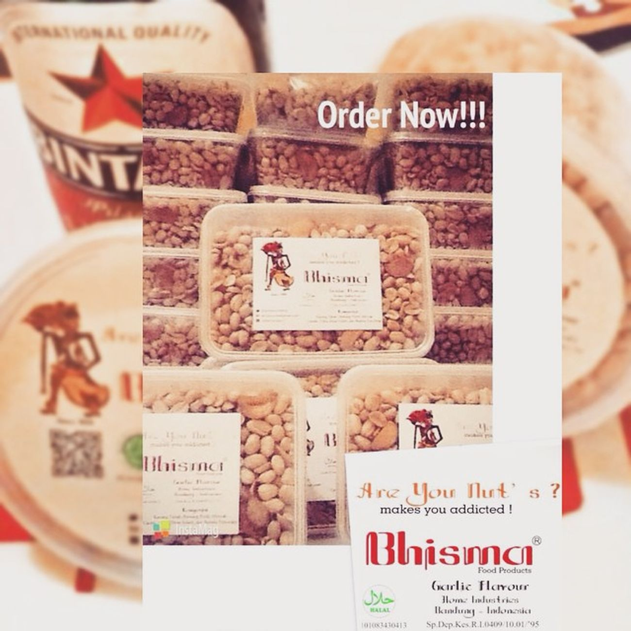 Bhisma Home Industries - Food Products Owner @BhismaMoo Email : Areyounutsbdg@gmail.com More info/order : 081572156668 Bandung - Indonesia Kulinerbandung Snack Cemilan  Bandung Areyounuts Lebaran