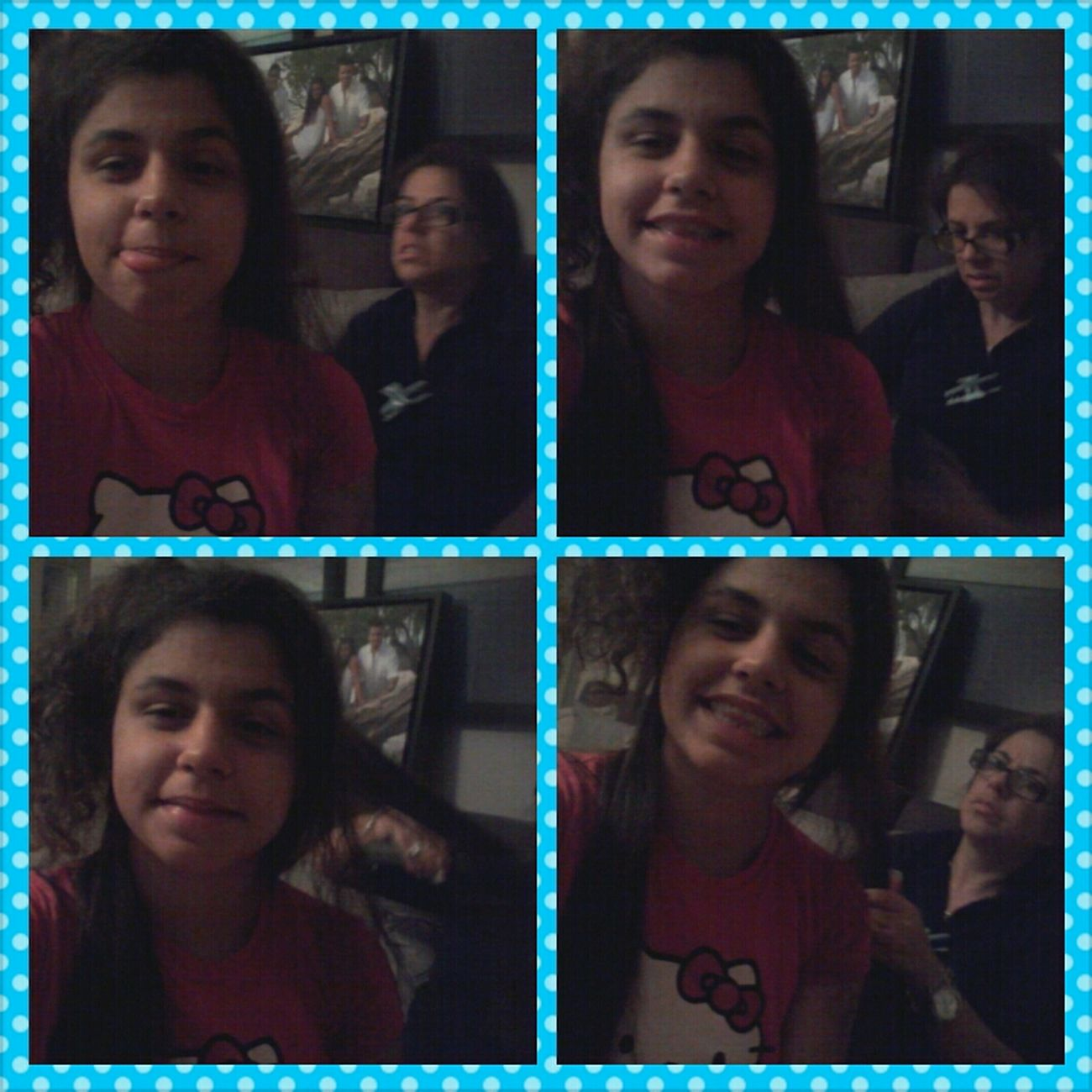 LOL My Mom Face But Shes Doing My Hair <3