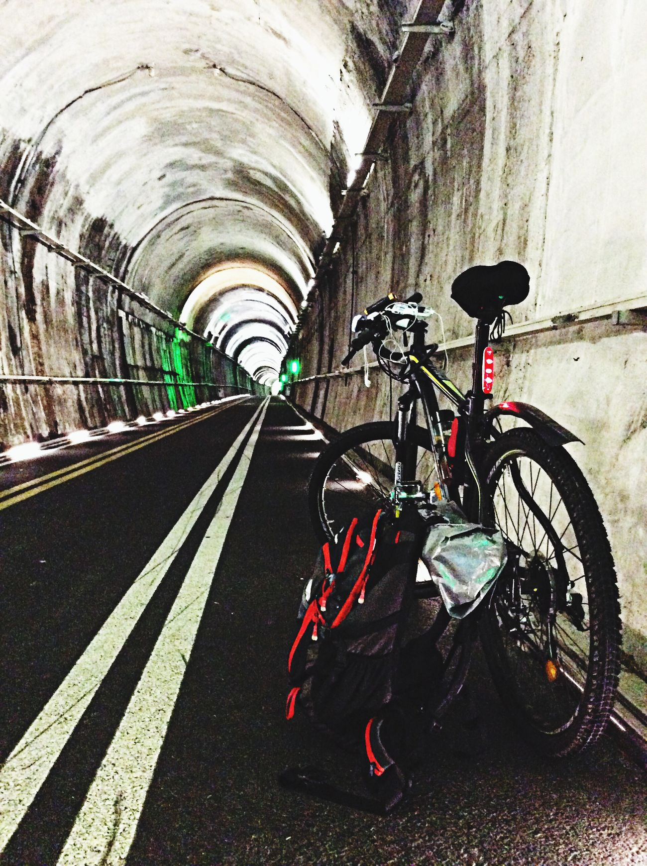 Riding Bike Tunnel