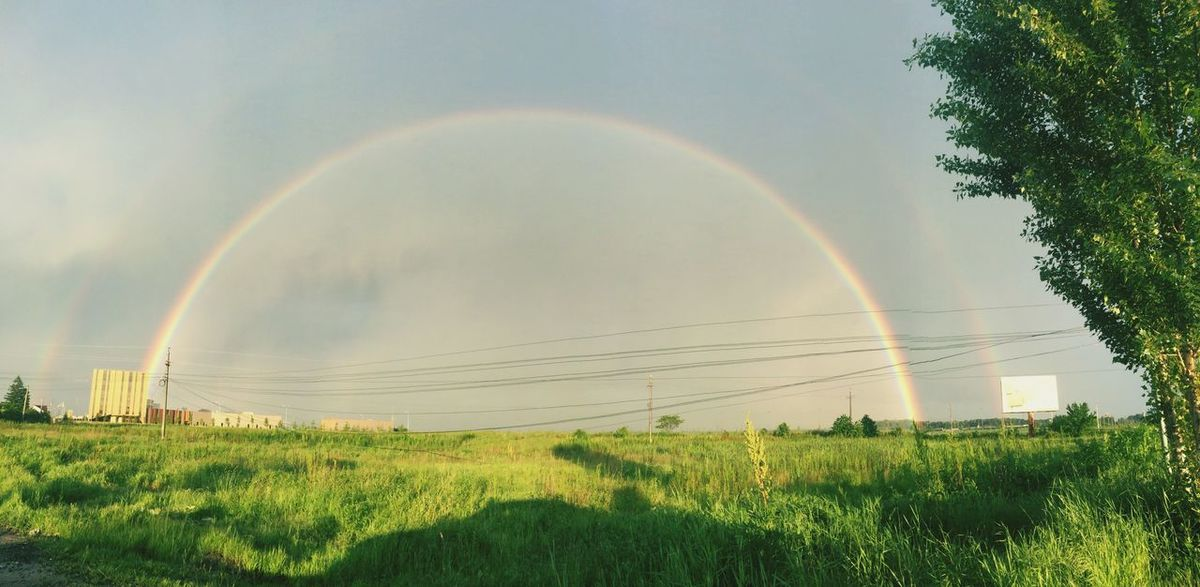 Rainbow Gateway Rainy Days Rain Rainbow Spectrum Colors Nature