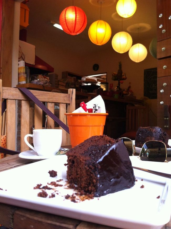 Coffe Time Chocolate Cake Good Conversation