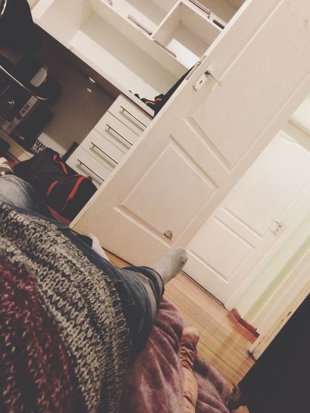 Chilling on the floor Blankets