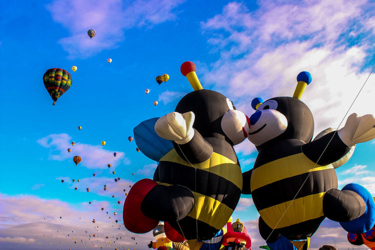 Adventure Albuquerqueballoonfiesta Bee 🐝 Celebration Colorful Flying Happy Love Hot Air Balloon In The Mood For Love Kiss Love Love In The Sky Mid-air Multi Colored Outdoors Tourism Traditional Festival Vibrant Color Miles Away Neighborhood Map