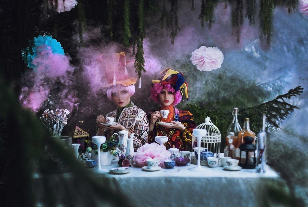 Bottle Celebration Day Dream Dreaming Drink EyeEm Best Shots Fashion Fine Art Photography Flower Lunch Model Outdoors Photography Pink Pinkhair Smoke Table Teatime Teatime☕️ WeekOnEyeEm Wonderful Wonderland Wonderland✨ Wood