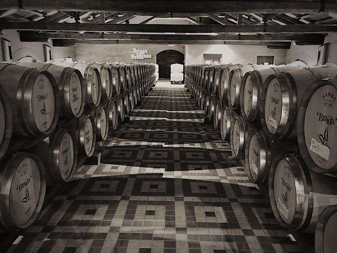 Winemaking Cellar Wine Winery Wine Cellar Distillery Alcohol Distillation Botti Barriques Piemonte Cantina Itay EyeEm Best Shots EyeEm Gallery EyeEm Best Edits EyeEm Black And White Blackandwhite Geometric Shape Geometry Square Wine Cask Autumn