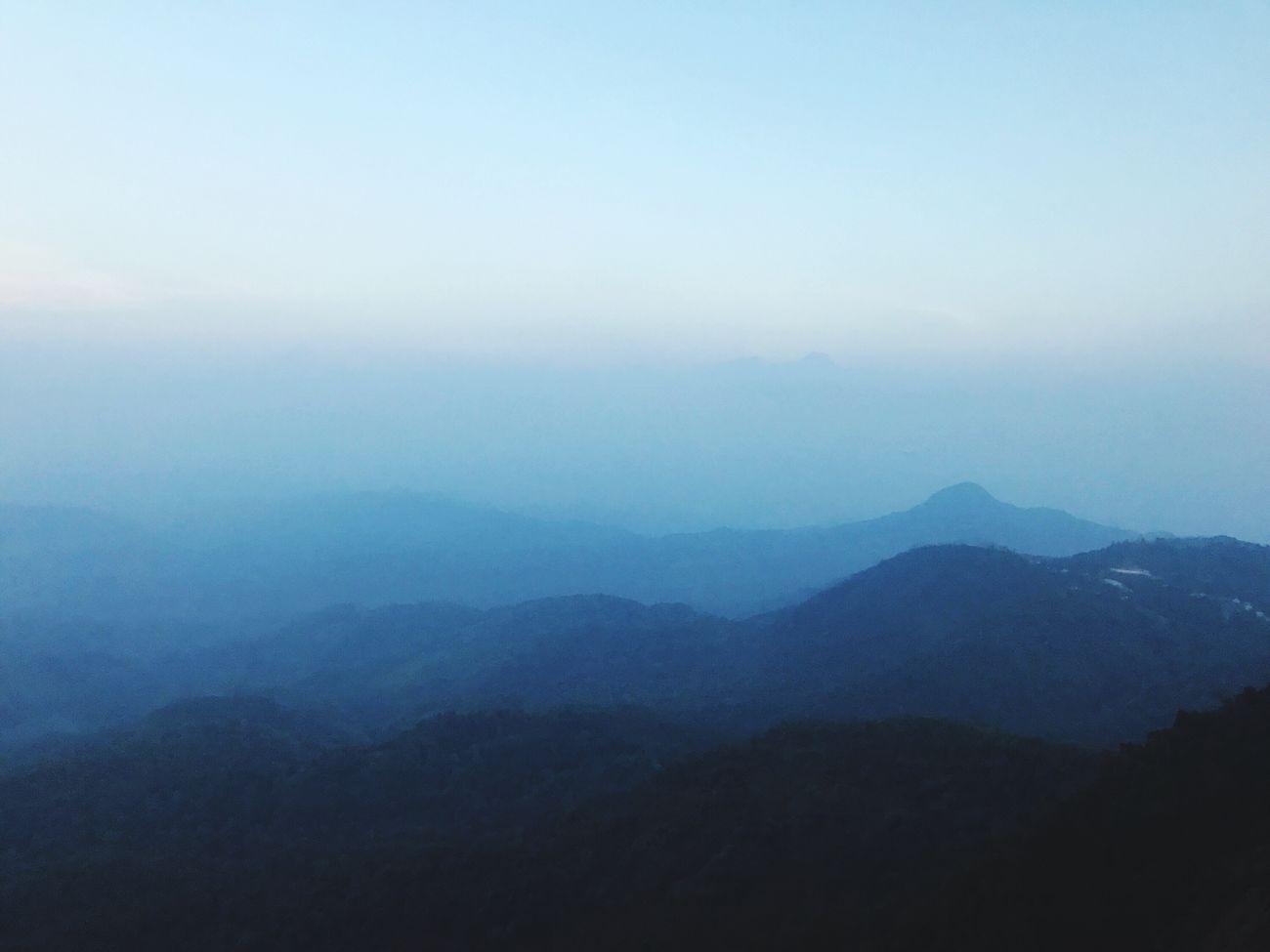 Hills Kayin State, Burma. Foggy Weather