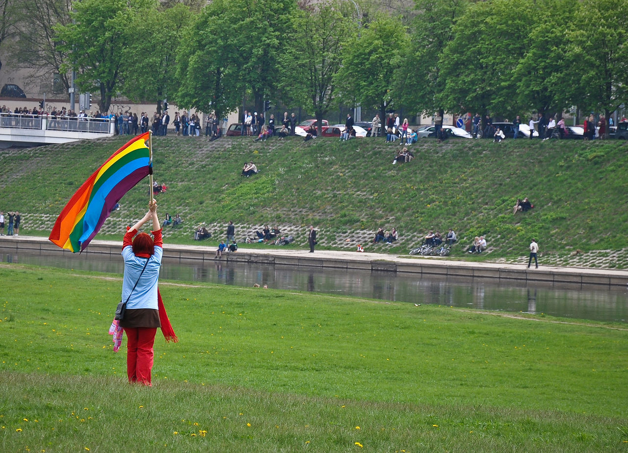 The first Baltic Pride in Vilnius, 2010 Activism Activist  Adult Baltic Day Field Flag Gay Gay Pride Large Group Of People Lgbt Lgbt Pride Message Nature Neris Outdoors People Pride Prideparade Progress Rainbow Flag Real People River Tolerance Vilnius