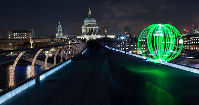 St Pauls from the Southbank City Dome Eye4enchanting Eye4photography  Famous Place Light Painting London LONDON❤ Long Exposure Millenium Bridge Nightphotography Place Of Worship St. Pauls Cathedral