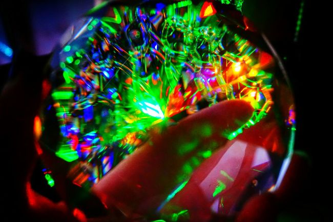 Tryingsomethingnew Holding The Crystal Crystal Clear Colorlights Through Crystal Hanging Out Taking Photos Nothingtodo All The Neon Lights