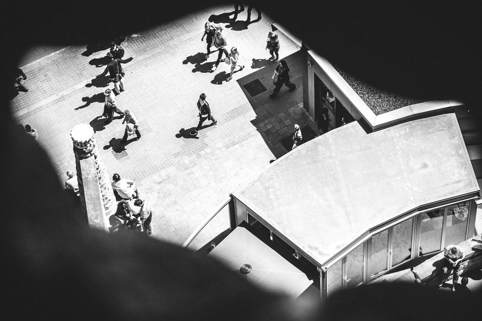 Take a peek Open Edit Group Of People Large Group Of People High Angle View City Life Lifestyles Walking The Way Forward Steps A Bird's Eye View City Street City Life Blackandwhite Black & White Monochrome Peek People People Walking  Streetphotography Aerial View Aerial Shot Sneak Peek View From Above Observing Cityscapes