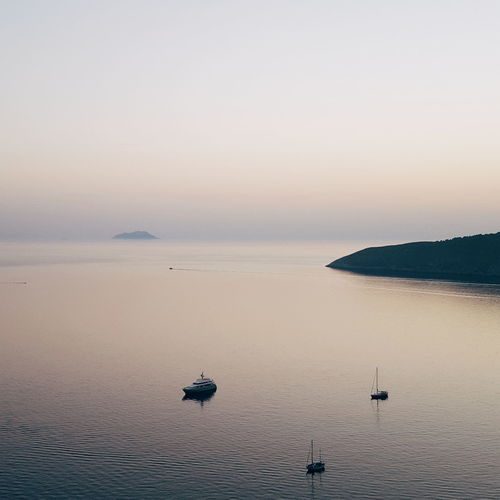 Sunset Tranquil Scene Silhouette Tranquility Nautical Vessel Landscape No People Sunlight Blue Day Horizon Over Water Beauty In Nature Nature Scenics Sea Outdoors Sunny Island Lissa