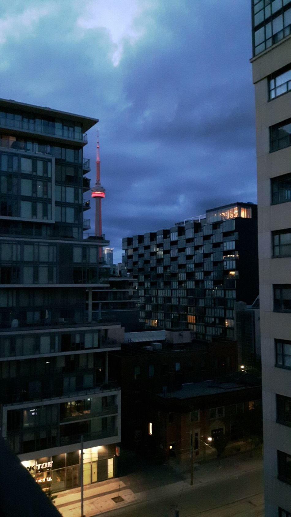 Nighttime Cloudy City Toronto City CN Tower Outdoors Sky Night No People Cityscape View