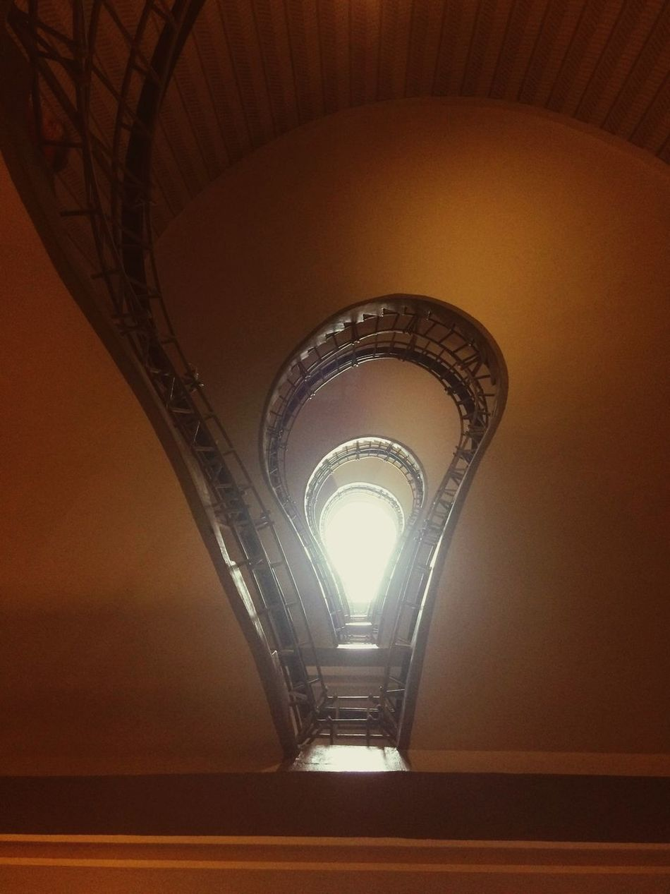 Architecture Indoors  Built Structure No People Illuminated Day Light Lights Stairs Staircase Stairways Stairway Lookingup Looking Up Lightbulb