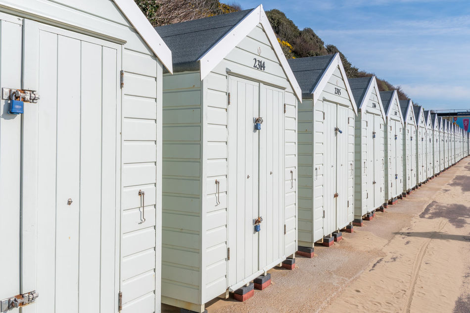 Architecture Beach Beach Hut Building Exterior Built Structure Day England English Coast English Coastline Holiday No People Outdoors Sand Seaside