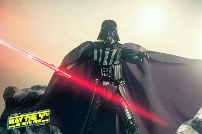 Lord Vader force chokes you happy starwars day! Darthvader Mafex MayThe4thBeWithYou MayTheFourthBeWithYou