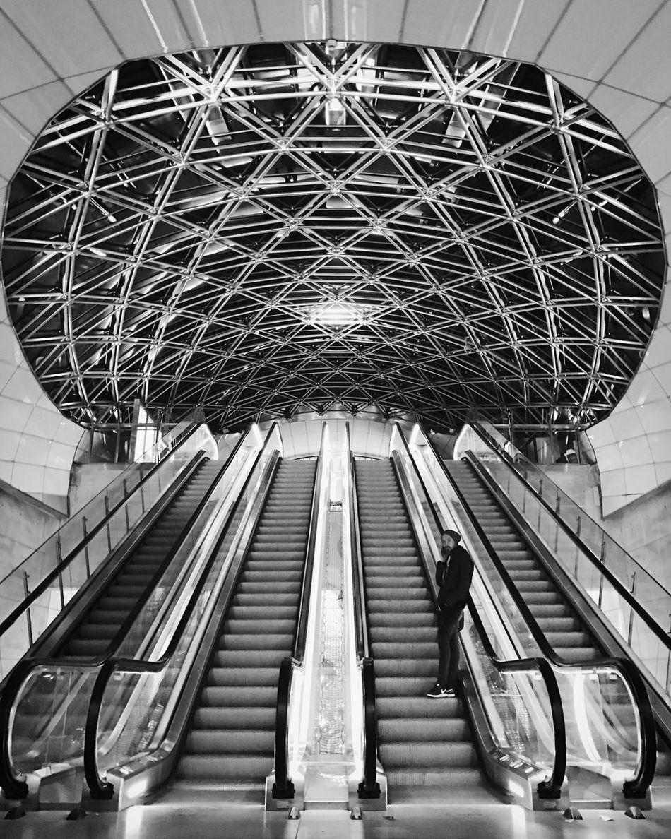 Built Structure Architecture Train Station Futuristic Black And White Railroad Station Malmö Illuminated Bw_collection Monochrome Architecture