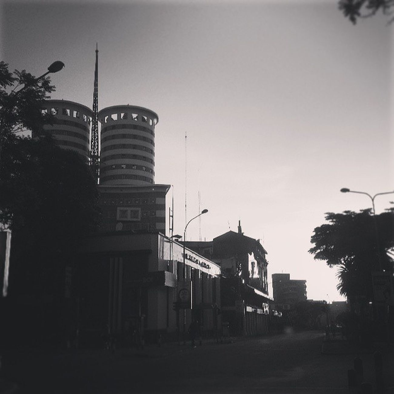 NationMediaHouse Goodmorning Nairobi Webstagram statigram photography blackandwhite B&W sunrise morningdrive