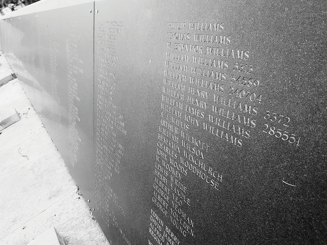 Fallen but unforgotten Day No People Outdoors Built Structure Fallen Heroes Honour Honor War Memorial War Remembrance Names Listed