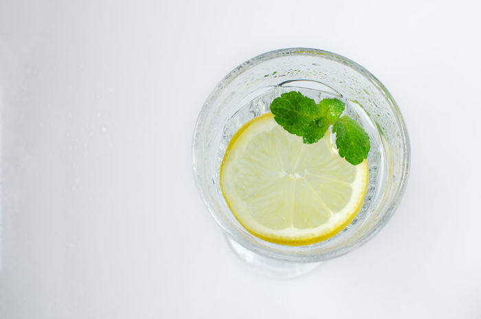 Blended Drink Citrus Fruit Close-up Cold Drink Drink Drinking Glass Freshness Indoors  Lemon Lemon Soda Lime Mint Leaf - Culinary Mojito No People Refreshment SLICE Tonic Water White Background