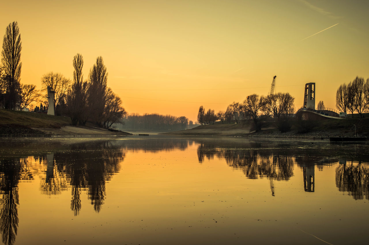 Baja, Sugovica Landscape Long Exposure Riverside Sunrise Sunset Winter