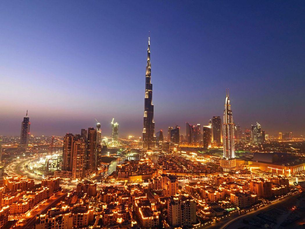 Downtown Dubai Burj Khalifa architecture Dubai City scenic