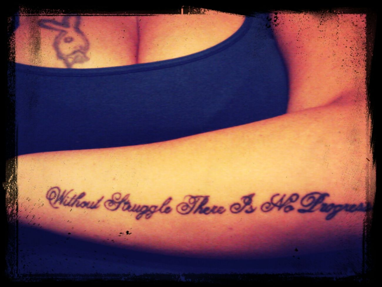 without struggle there is no progress... Tattoo