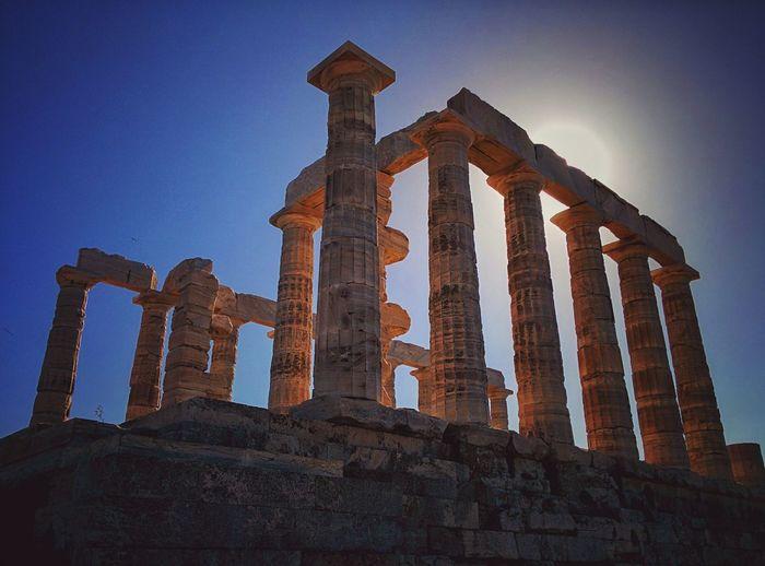 Sounio Souniongreece Greece Architecture Ancient Ancient Architecture Ancient Civilization Ancient Ruins Ancient Temple Columns