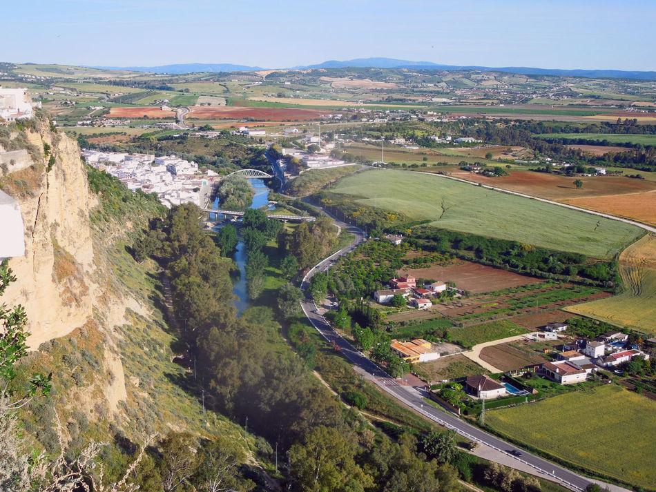 Andalucía Architecture Arcos De La Frontera Building Exterior City Cityscape Guadalete Rio River Rock Formation Sky Travel Destinations