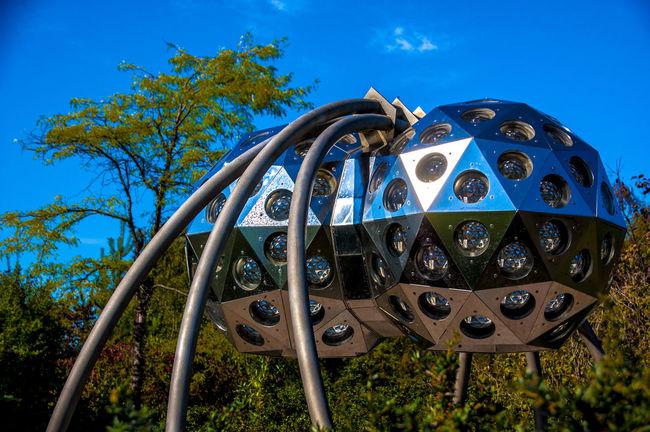 Blue Day Expo2000 Hannover Iron - Metal Low Angle View Lush Foliage Fresh On Eyeem  Non-urban Scene Outdoors Sky Tree