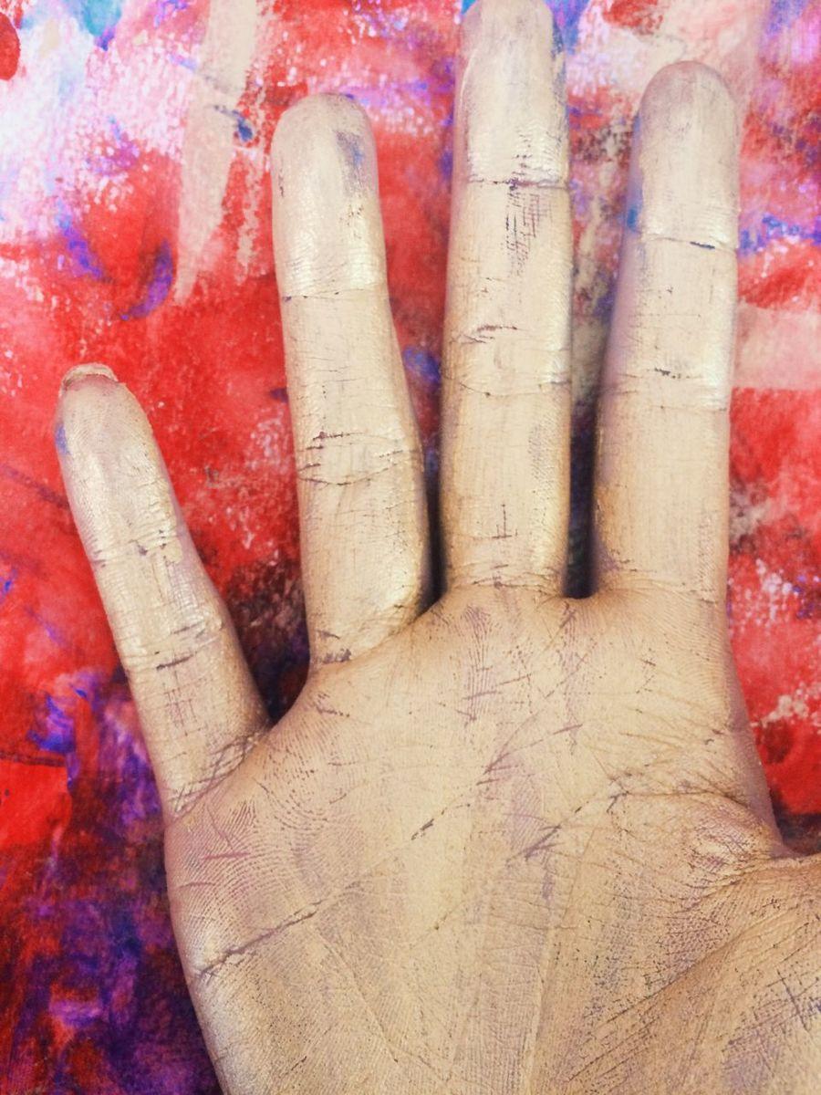 Gold Human Finger Gold Hand