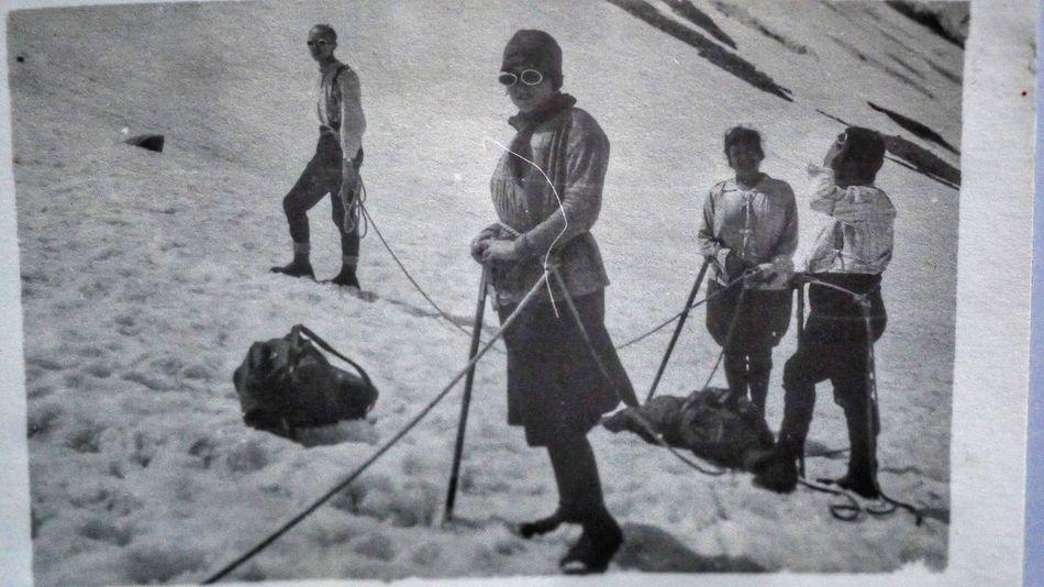 Swiss Mountains Swiss Alps Alps Switzerland Climbing A Mountain 1920s Woman Climbing My Grandma  Old Foto  Old Documents Blackandwhite Black & White Black And White Black&white