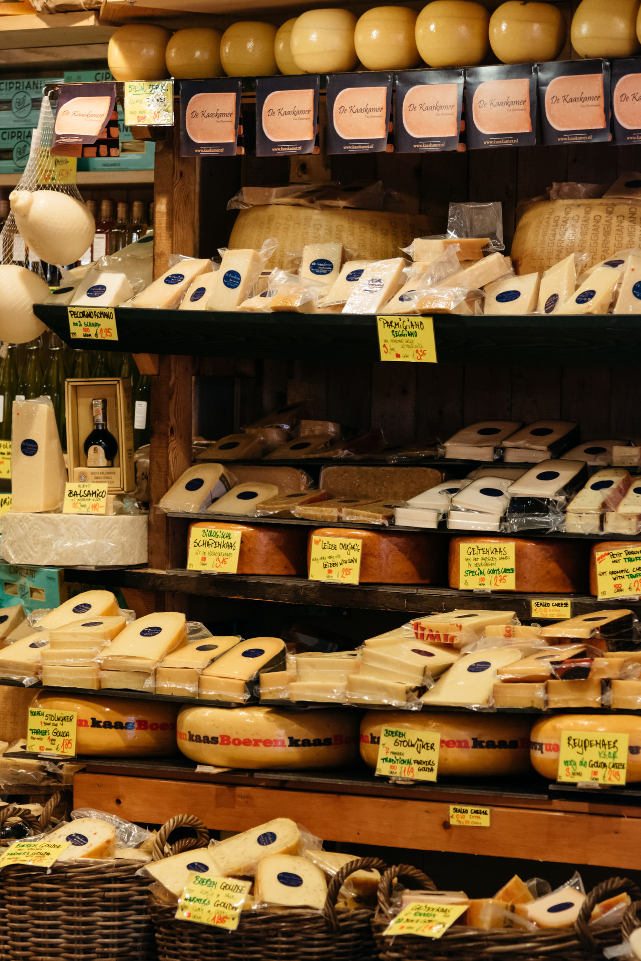 Dutch cheese in a store Abundance Amsterdam Antique Cheese Choice Day Food Food Shopping Foodie Full Frame Gouda Gourmet Indoors  Large Group Of Objects Netherlands No People Retail  Shelf Store Variation Wood - Material
