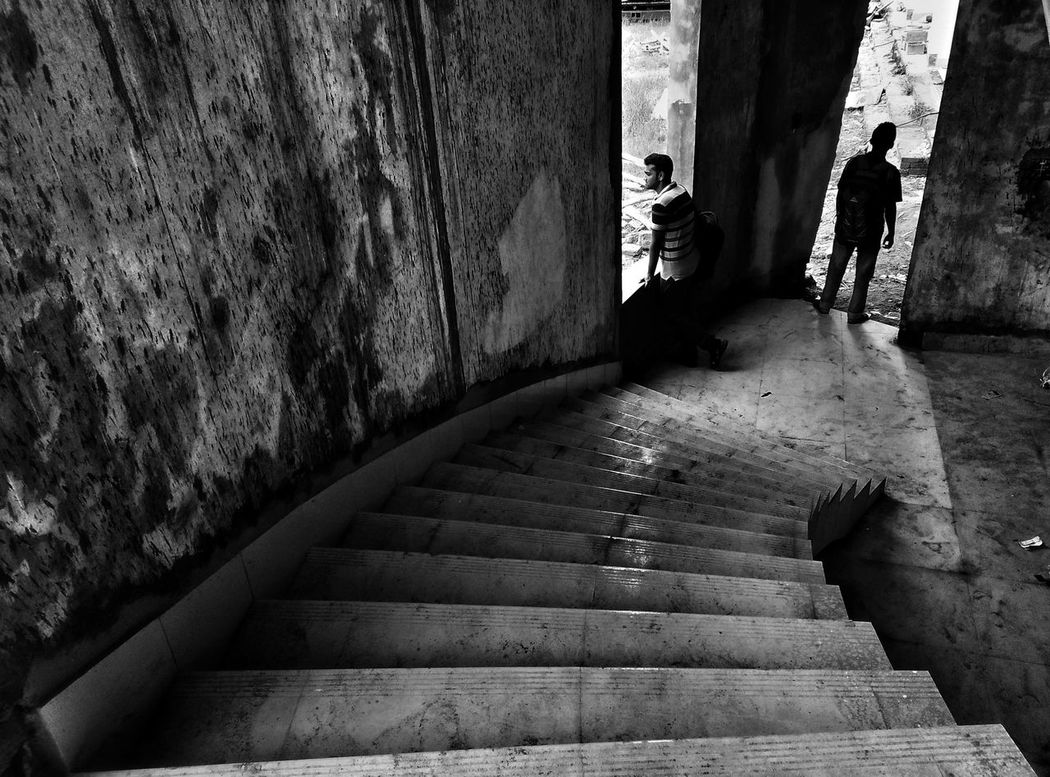 The Two Soul. Architecture Built Structure Outdoors Day Black & White Photography Black & White Black And White Black&white Shadows & Lights EyeEmNewHere Black Background Light And Shadow Light And Shadow Outdoor Photography EyeEm Selects Street Photography The Street Photographer - 2017 EyeEm Awards Imagination And Creative Dark Minimal Composition Shadow Let's Go. Together. Lifestyles Reflections And Shadows Real People People