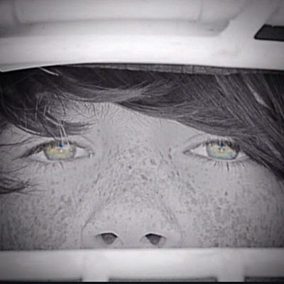 Another edited close up of those beautiful eyes he gets from his mom and those cute freckles that he hates!