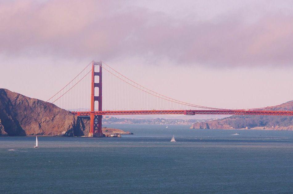 Beautiful stock photos of san francisco, Bridge - Man Made Structure, Built Structure, Cloud - Sky, Connection