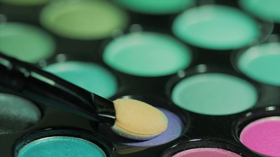 Beauty In Nature Brush Close Up Close-up Colorful Cosmetics Day Fashion Green Color Indoors  Instruments Macro Makeup Multi Colored No People Palette Palette Colors Palettes Shadow