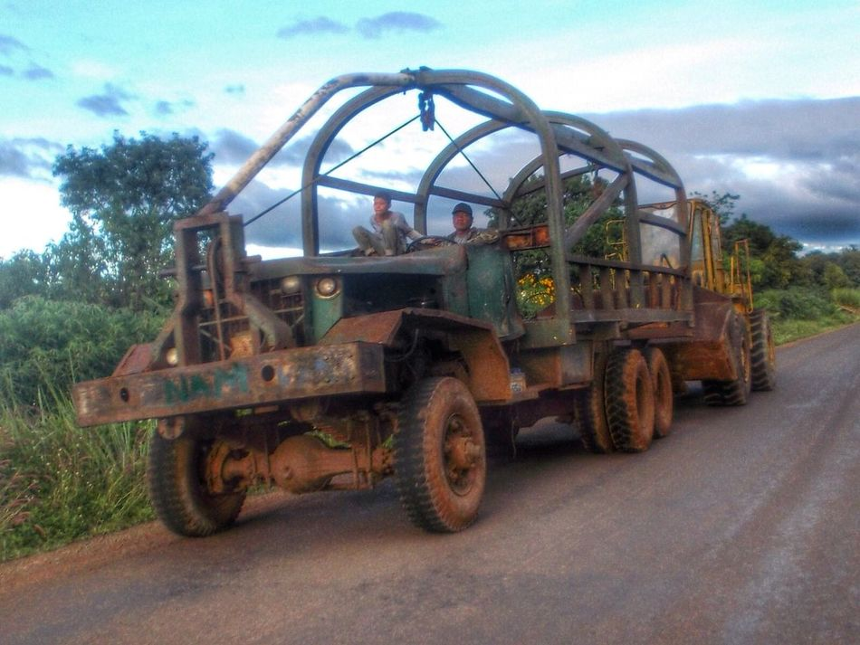 Vehicle War Machine Relic From The Past Transportation Huge Heavy Equipment Wide Eyed Working Day Roadscenes Traveltheworld Tad Lo Laos