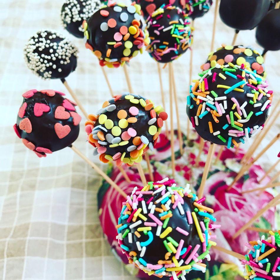 Cakepop Multi Colored Home Made Dessert Foodporn