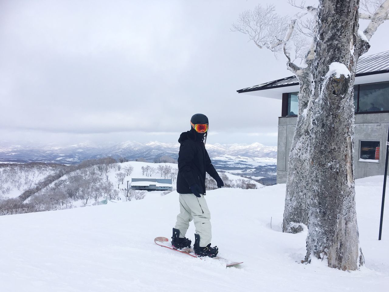 Snowboard Winter Snow Low Angle View Cold Temperature Town Japan Niseko Hirafu High