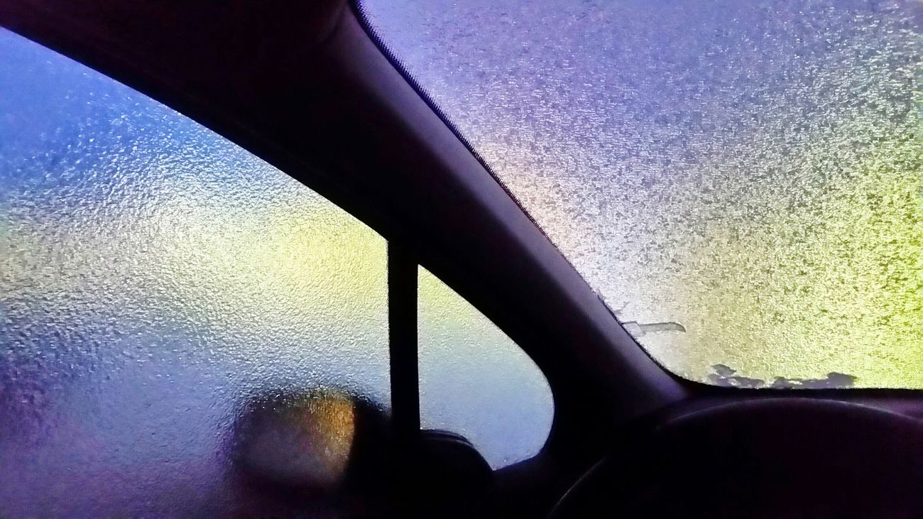 Icy Window Colorful Cold Winter ❄⛄ Check This Out