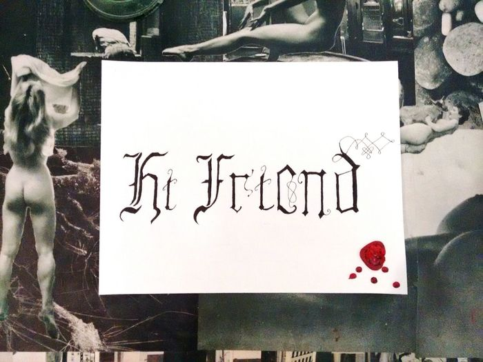 Calligraphy Art Hi Friend