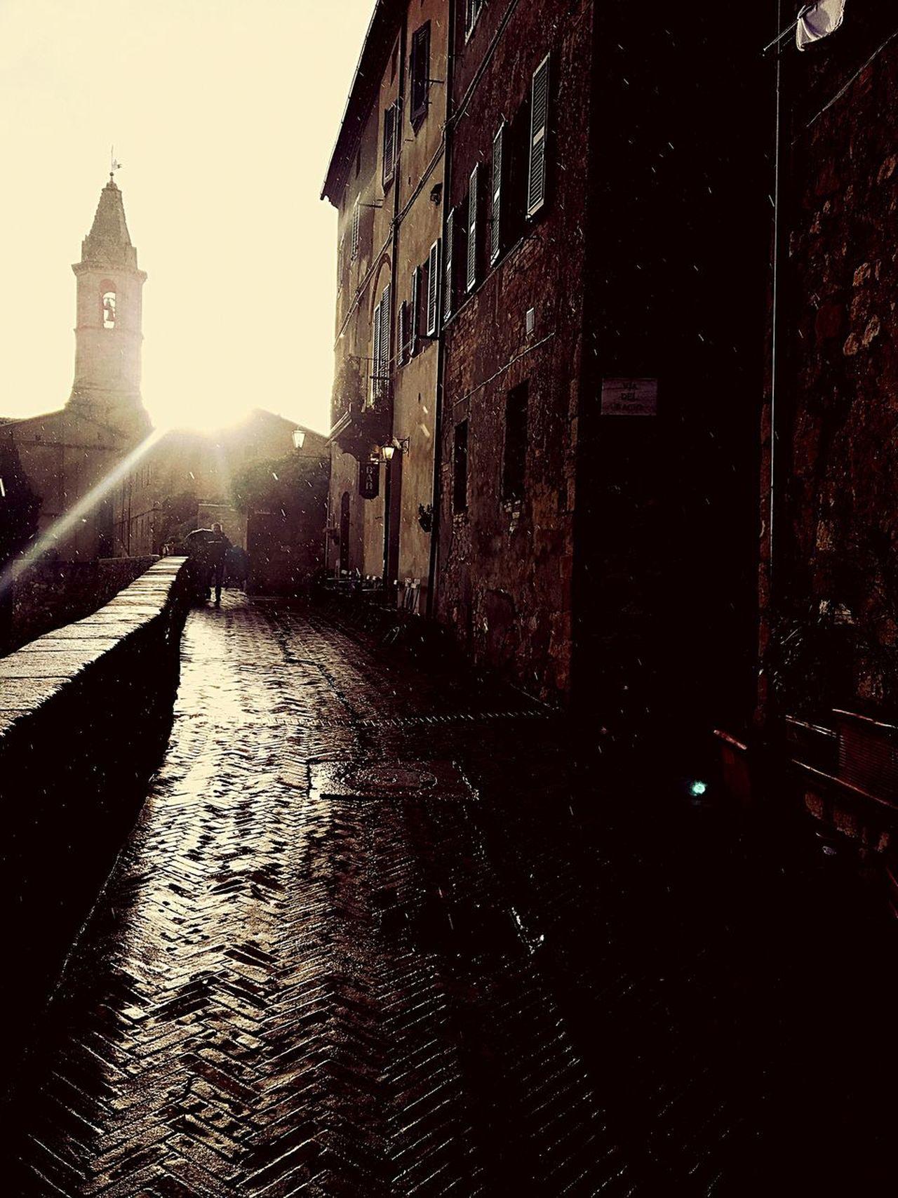 Rain With Sun Pienza (toscana) Spring