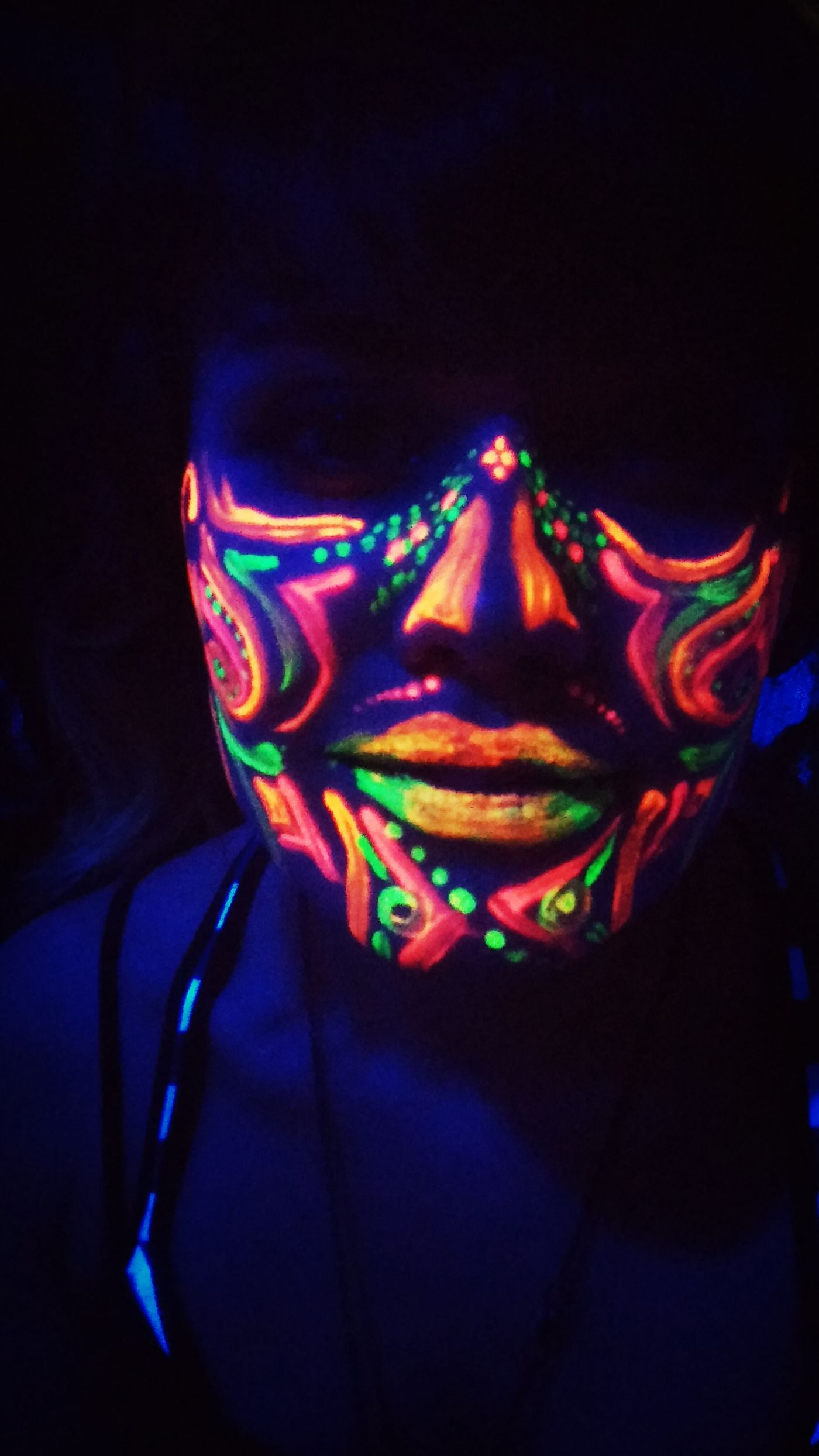 Neon Color Body Painting Face Paint Ravergirls