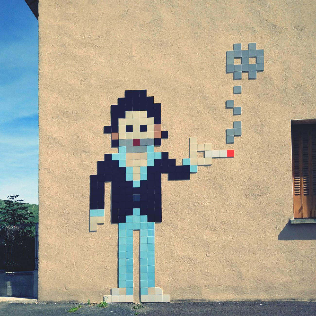Space Invaders feat Gainsbourg Streetart Auvergne