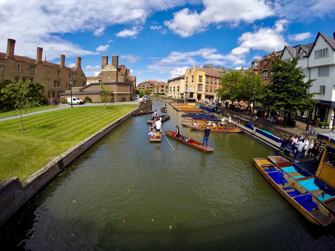 Adult Adults Only Architecture Building Exterior Cambridge City City Break City Life Colors Day England Large Group Of People Leisure Activity Nautical Vessel Outdoors People Sky Students Travel Travel Destinations Tree Vacations Water Waterfront Women