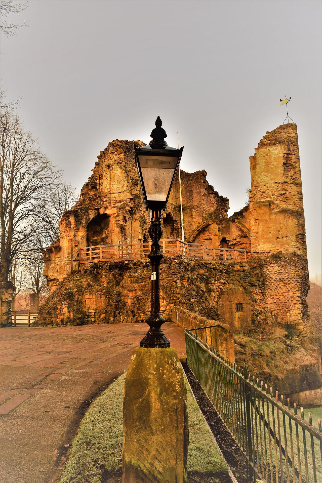 Castle Ruin Architecture History Ancient Ruins_photography Castle Grounds Gas Light No People Knaresborough Castle