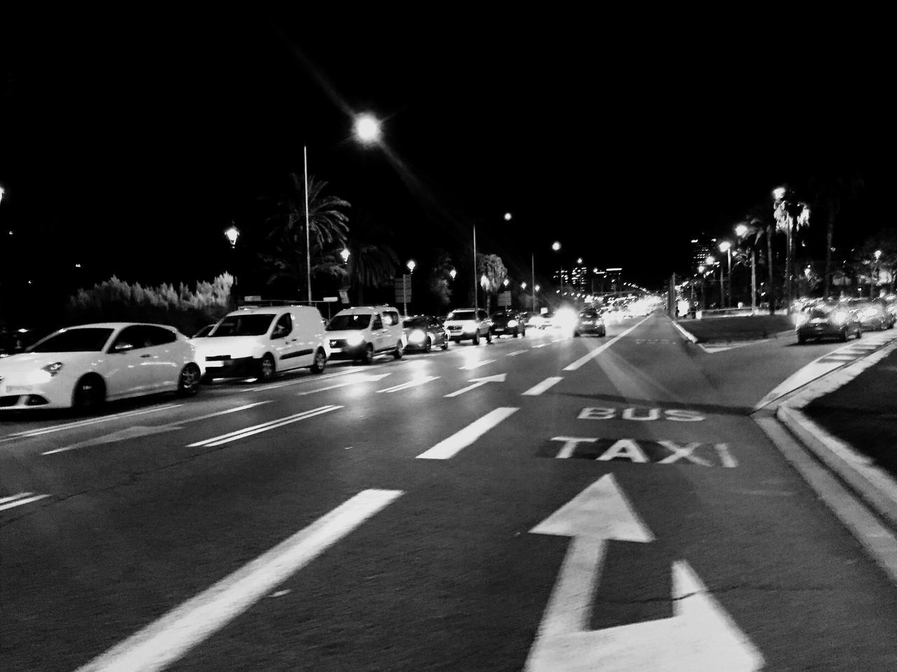 Night crossing La Diagonal Illuminated Transportation Night Car Traffic Street Light Sky Outdoors Road No People Barcelona Diagonal Avinguda Diagonal Zona Universitaria
