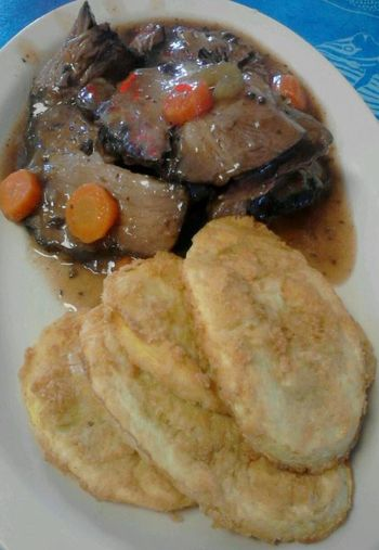 Carrots Comfort Foods Food Fried Squash Pot Roast Southern Cooking