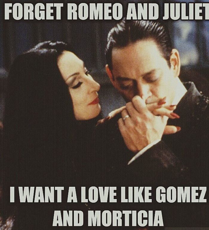 Darling you have the soul of an artist and the touch of a surgeon. 💘💘💘 The Addams Family Morticia Addams Gomez Addams Love Quotes Light And Shadow Romeo And Juliet Halloween Good Movie  Spooky